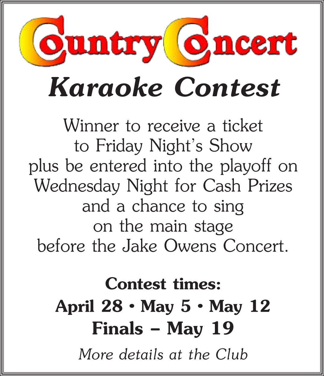country concert contest